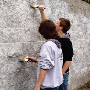 Community effort to eradicate graffiti